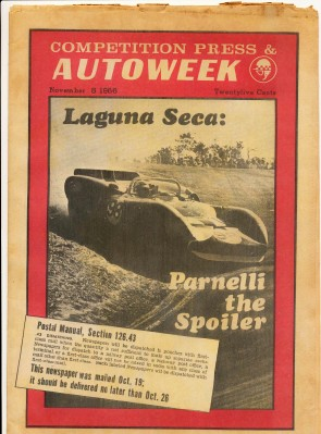 November 5 1966 Competition Press & Autoweek Car Racing News